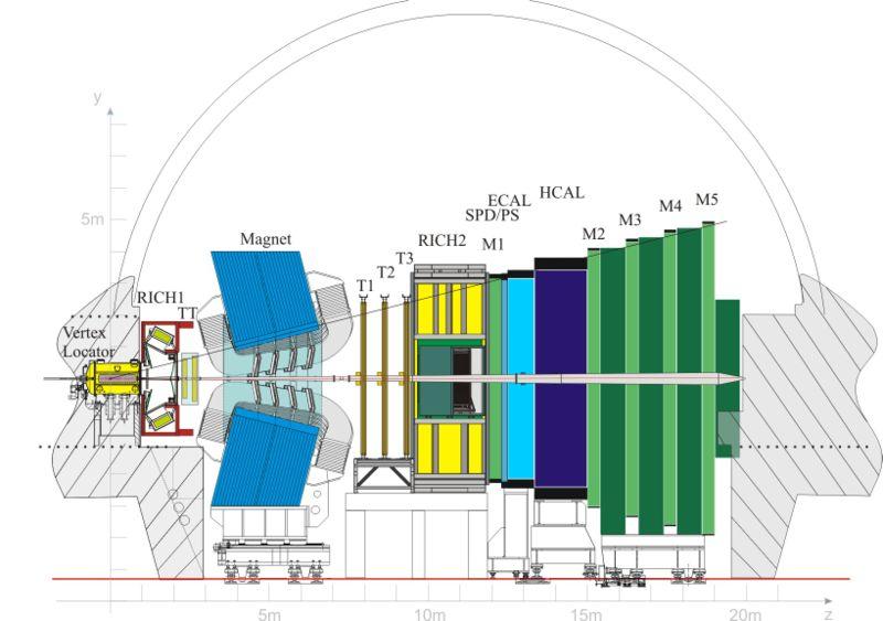 Vista del detector LHCb