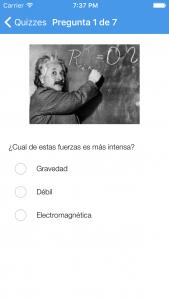 Aplicación LHC Quizzes